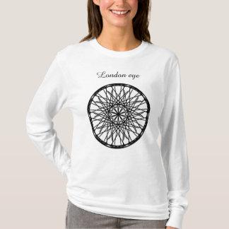 Femmes, oeil de Londres de T-shirt. T-shirt