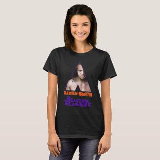 Femmes oranges de BT de rouages noires T-shirt