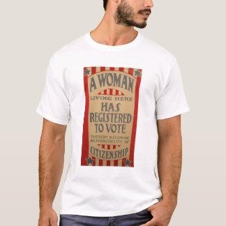 Femmes, registre au vote ! t-shirt