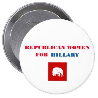 """Femmes républicaines pour le bouton 4"""" de Hillary Pin's"""
