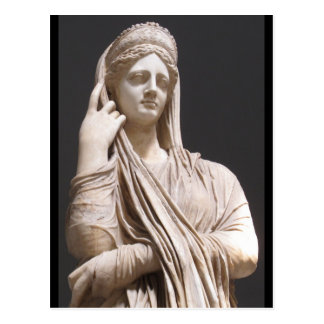 Femmes romaines impériales - statue carte postale