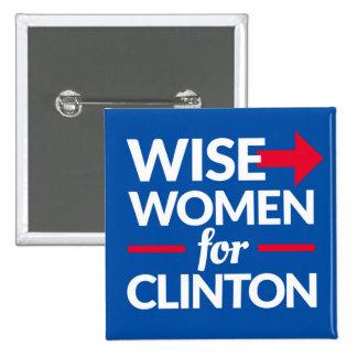 FEMMES SAGES POUR le bouton carré de deux pouces Pin's