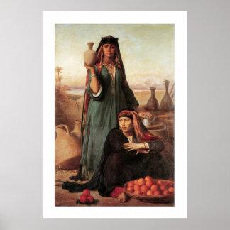Femmes vendant l'eau et des oranges… posters