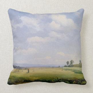 Fenaison, 1838 (huile sur la toile) oreiller