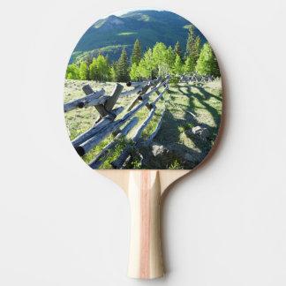 Fenceline en bois raquette de ping pong