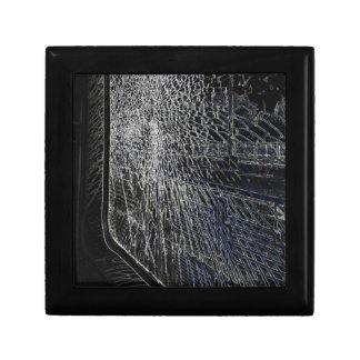 fenêtre cassée de train boîte à souvenirs