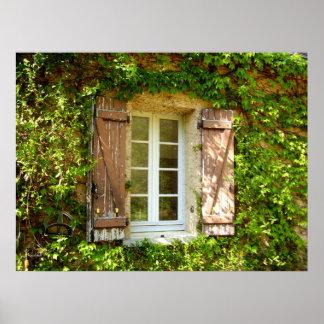 Fenêtre de ferme et affiche françaises de volets poster