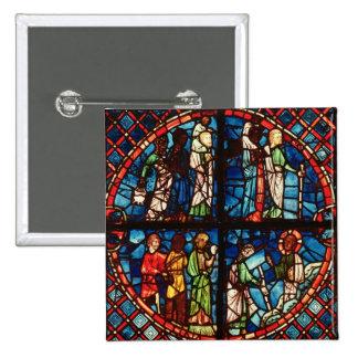 Fenêtre de la chapelle de la Vierge Badge Carré 5 Cm