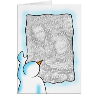 Fenêtre de neige carte de vœux