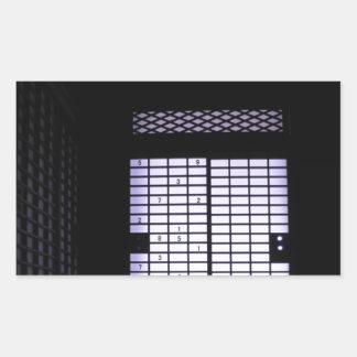 Fenêtre de papier de Sudoku de Japonais Autocollant En Rectangle