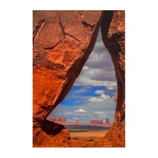 Fenêtre de roche à la vallée de monument, AZ Art Mural En Acrylique