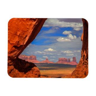 Fenêtre de roche à la vallée de monument, AZ Magnet Flexible