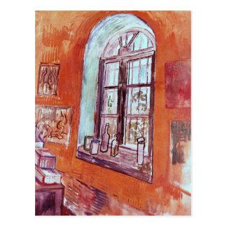 Fenêtre de Van Gogh du studio de Vincent à l'asile Carte Postale
