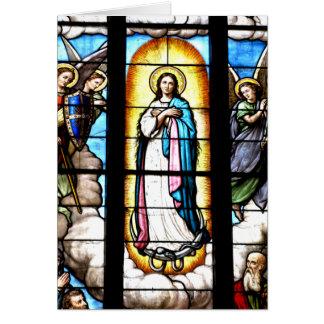 Fenêtre de Vierge Marie Carte De Vœux