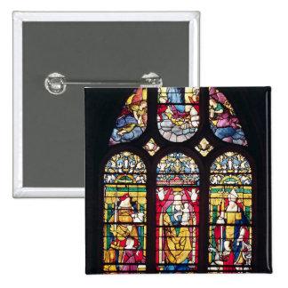 Fenêtre dépeignant la Vierge et l'enfant Badge