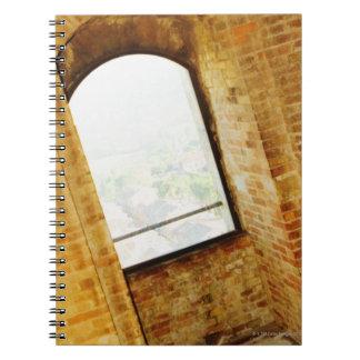 Fenêtre d'un bâtiment, La Rognosa, San Gimignano, Carnet À Spirale
