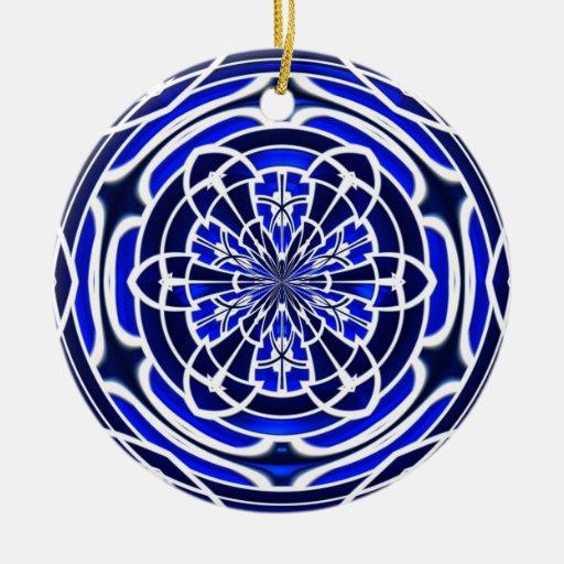 fen tre en verre teint de bleu marine ornement rond en. Black Bedroom Furniture Sets. Home Design Ideas