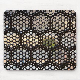 Fenêtre géométrique de trellis, Inde Tapis De Souris