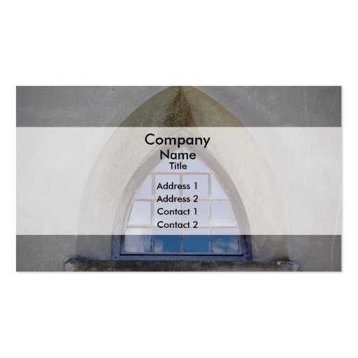Fen tre gothique carte de visite standard zazzle for Fenetre gothique