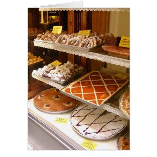 Fenêtre italienne de boulangerie carte de vœux