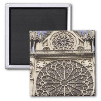 Fenêtre rose du sud en cathédrale de Notre Dame de Magnet Carré