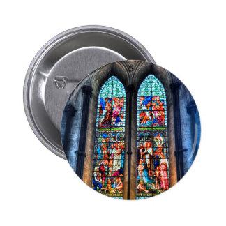Fenêtres en verre teinté, cathédrale de Salisbury, Badge