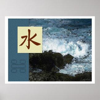 Feng Shui Images de Bagua Paysage de l eau Affiches