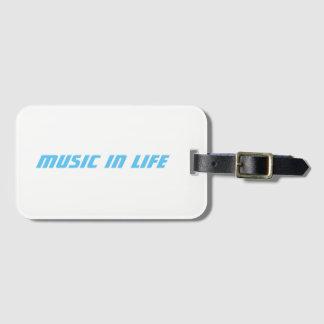 Fente de carte de visite - musique dans le logo de étiquettes bagages