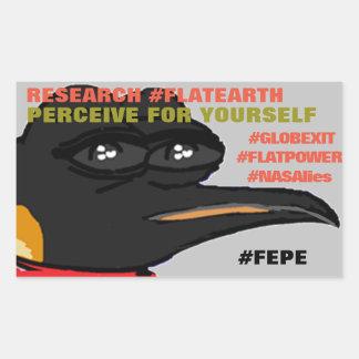 """FEPE (alt.) """"PERÇOIVENT POUR VOUS-MÊME"""" Sticker Rectangulaire"""