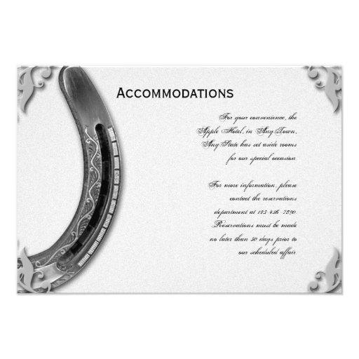 fer cheval argent sur le mariage blanc carton d 39 invitation 8 89 cm x 12 70 cm zazzle. Black Bedroom Furniture Sets. Home Design Ideas