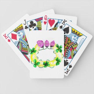 Fer à cheval avec le trèfle cartes à jouer