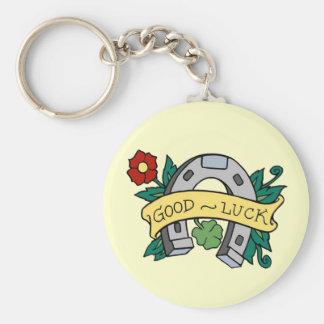 Fer à cheval de bonne chance - porte - clé porte-clé rond