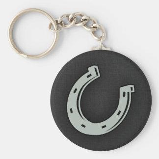 Fer à cheval de gris de cendre porte-clef