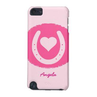 fer à cheval et coeur roses coque iPod touch 5G