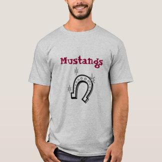 fer à cheval, mustangs t-shirt