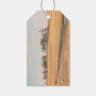 Ferme abandonnée de prairie dans le Dakota du Nord Étiquettes-cadeau