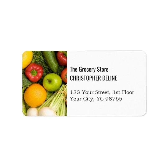Ferme colorée élégante moderne d'épicerie de étiquette d'adresse