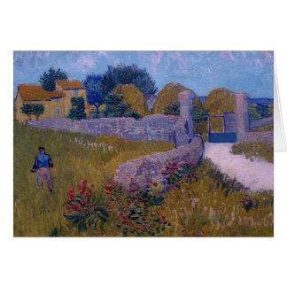 ferme dans provence-1888-vincent Van Gogh Carte De Vœux