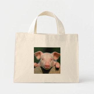 Ferme de porc - visage de porc mini tote bag