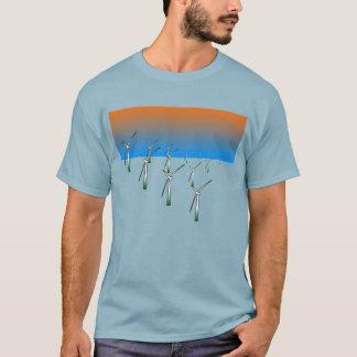 Ferme de turbine de vent t-shirt