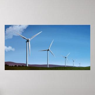 Ferme de vent - copies d'affiche de l'énergie vert