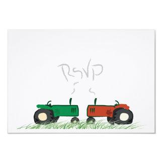 Ferme d'été épousant la carte de RSVP Carton D'invitation 8,89 Cm X 12,70 Cm