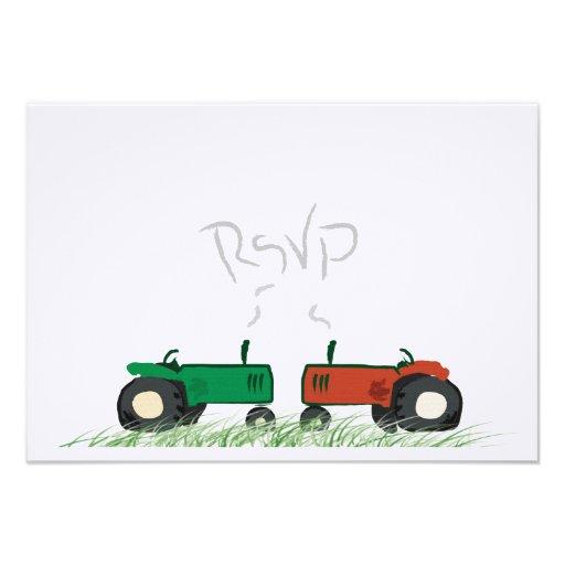Ferme d'été épousant la carte de RSVP Faire-part Personnalisé