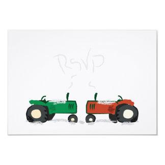 Ferme d'hiver épousant la carte de RSVP Carton D'invitation 8,89 Cm X 12,70 Cm