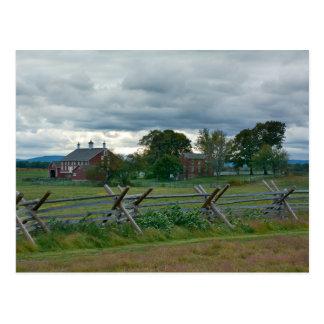 Ferme - parc national Pennsylvanie de Gettysburg Carte Postale