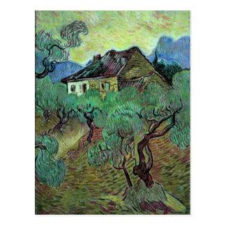 Ferme parmi des beaux-arts de Van Gogh d'oliviers Carte Postale