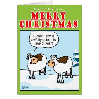 Ferme tranquille de la Turquie à Noël Carte De Vœux