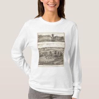 Fermes et résidences dans la magnolia t-shirt