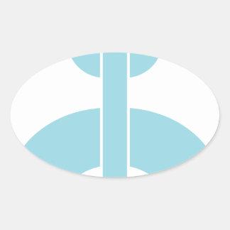 Fermez à clef la chaîne de N Sticker Ovale
