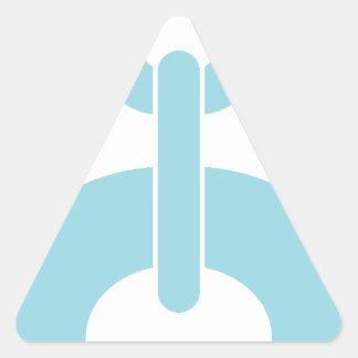 Fermez à clef la chaîne de N Sticker Triangulaire